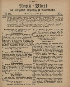 Amts-Blatt der Königlichen Regierung zu Marienwerder, 22. Juni 1904, No. 25.