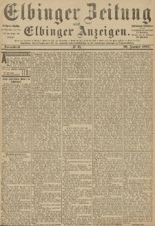 Elbinger Zeitung und Elbinger Anzeigen, Nr. 18 Sonnabend 22. Januar 1887