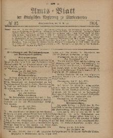 Amts-Blatt der Königlichen Regierung zu Marienwerder, 10. August 1904, No. 32.