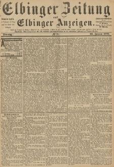 Elbinger Zeitung und Elbinger Anzeigen, Nr. 19 Sonntag 23. Januar 1887