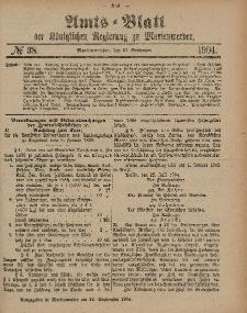 Amts-Blatt der Königlichen Regierung zu Marienwerder, 21. September 1904, No. 38.