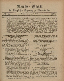 Amts-Blatt der Königlichen Regierung zu Marienwerder, 12. Oktober 1904, No. 41.