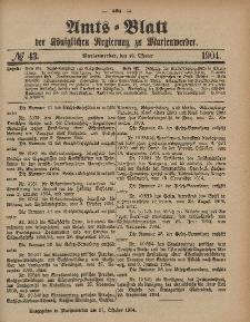 Amts-Blatt der Königlichen Regierung zu Marienwerder, 26. Oktober 1904, No. 43.