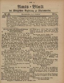 Amts-Blatt der Königlichen Regierung zu Marienwerder, 9. November 1904, No. 45.