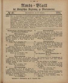 Amts-Blatt der Königlichen Regierung zu Marienwerder, 23. November 1904, No. 47.