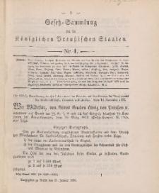 Gesetz-Sammlung für die Königlichen Preussischen Staaten, 21. Januar, 1893, nr. 1.