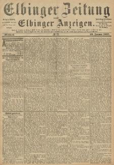 Elbinger Zeitung und Elbinger Anzeigen, Nr. 21 Mittwoch 26. Januar 1887