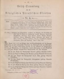 Gesetz-Sammlung für die Königlichen Preussischen Staaten, 11. März, 1893, nr. 4.
