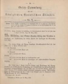 Gesetz-Sammlung für die Königlichen Preussischen Staaten, 28. März, 1893, nr. 7.