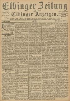 Elbinger Zeitung und Elbinger Anzeigen, Nr. 22 Donnerstag 27. Januar 1887