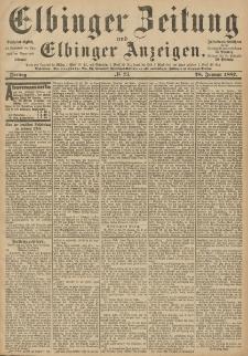 Elbinger Zeitung und Elbinger Anzeigen, Nr. 23 Freitag 28. Januar 1887