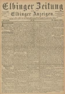 Elbinger Zeitung und Elbinger Anzeigen, Nr. 24 Sonnabend 29. Januar 1887