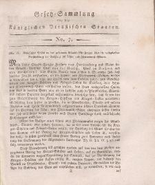 Gesetz-Sammlung für die Königlichen Preussischen Staaten, 20. November, 1810, nr. 7.