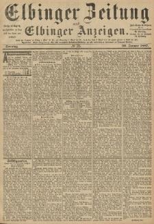 Elbinger Zeitung und Elbinger Anzeigen, Nr. 25 Sonntag 30. Januar 1887