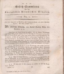 Gesetz-Sammlung für die Königlichen Preussischen Staaten, 27. Januar, 1812, nr. 1.