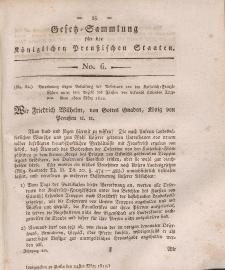 Gesetz-Sammlung für die Königlichen Preussischen Staaten, 24. März, 1812, nr. 6.