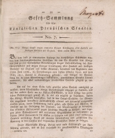 Gesetz-Sammlung für die Königlichen Preussischen Staaten, 19. April, 1812, nr. 7.