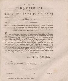 Gesetz-Sammlung für die Königlichen Preussischen Staaten, 17. April, 1812, nr. 8.