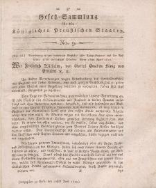 Gesetz-Sammlung für die Königlichen Preussischen Staaten, 20. April, 1812, nr. 9.