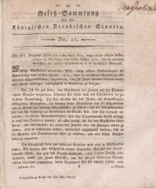 Gesetz-Sammlung für die Königlichen Preussischen Staaten, 1. Mai, 1812, nr. 11.