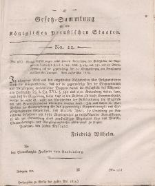 Gesetz-Sammlung für die Königlichen Preussischen Staaten, 29. Mai, 1812, nr. 12.