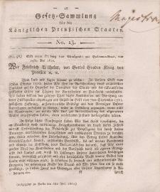 Gesetz-Sammlung für die Königlichen Preussischen Staaten, 2. Juni, 1812, nr. 13.