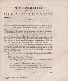 Gesetz-Sammlung für die Königlichen Preussischen Staaten, 16. Juni, 1812, nr. 14.