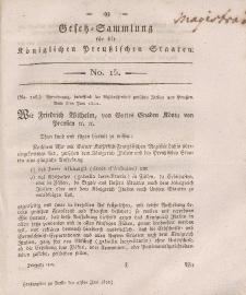Gesetz-Sammlung für die Königlichen Preussischen Staaten, 27. Juni, 1812, nr. 15.
