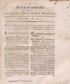 Gesetz-Sammlung für die Königlichen Preussischen Staaten, 2. Juli, 1812, nr. 16.