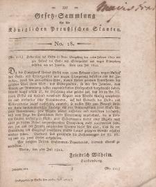 Gesetz-Sammlung für die Königlichen Preussischen Staaten, 24. Juli, 1812, nr. 18.