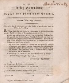 Gesetz-Sammlung für die Königlichen Preussischen Staaten, 4. August 1812, nr. 19.