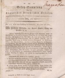 Gesetz-Sammlung für die Königlichen Preussischen Staaten, 17. August 1812, nr. 20.
