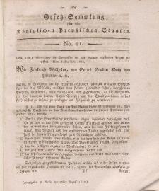 Gesetz-Sammlung für die Königlichen Preussischen Staaten, 22. August 1812, nr. 21.