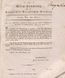 Gesetz-Sammlung für die Königlichen Preussischen Staaten, 19. September 1812, nr. 22.