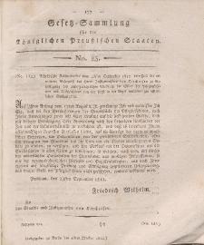 Gesetz-Sammlung für die Königlichen Preussischen Staaten, 13. Oktober 1812, nr. 23.