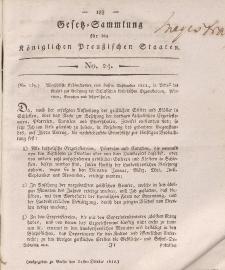 Gesetz-Sammlung für die Königlichen Preussischen Staaten, 31. Oktober 1812, nr. 24.