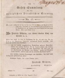 Gesetz-Sammlung für die Königlichen Preussischen Staaten, 15. Dezember 1812, nr. 25.