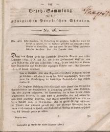 Gesetz-Sammlung für die Königlichen Preussischen Staaten, 24. Dezember 1812, nr. 26.