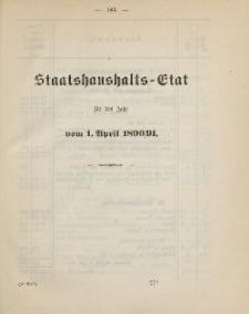 Gesetz-Sammlung für die Königlichen Preussischen Staaten, (Staatshaushalts-Etat für das Jahr von 1. April 1890/91)