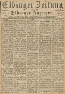 Elbinger Zeitung und Elbinger Anzeigen, Nr. 32 Dienstag 8. Februar 1887