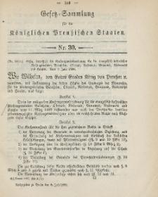 Gesetz-Sammlung für die Königlichen Preussischen Staaten, 5. Juli, 1890, nr. 30.
