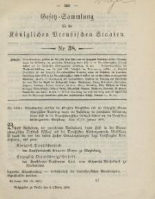 Gesetz-Sammlung für die Königlichen Preussischen Staaten, 4. Oktober, 1890, nr. 38.