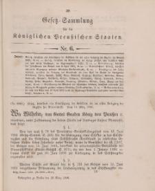 Gesetz-Sammlung für die Königlichen Preussischen Staaten, 28. März 1896, nr. 6.