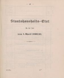 Gesetz-Sammlung für die Königlichen Preussischen Staaten, (Staatshaushalts-Etat für das Jahr von 1. April 1896/97)