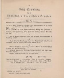 Gesetz-Sammlung für die Königlichen Preussischen Staaten, 30. März 1896, nr. 8.