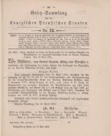 Gesetz-Sammlung für die Königlichen Preussischen Staaten, 29. Mai 1896, nr. 12.