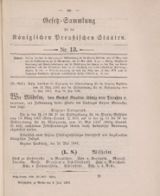 Gesetz-Sammlung für die Königlichen Preussischen Staaten, 8. Juni 1896, nr. 13.