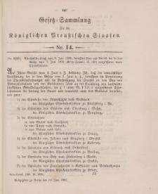 Gesetz-Sammlung für die Königlichen Preussischen Staaten, 13. Juni 1896, nr. 14.
