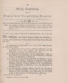 Gesetz-Sammlung für die Königlichen Preussischen Staaten, 29. Juli 1896, nr. 20.
