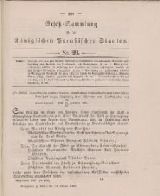Gesetz-Sammlung für die Königlichen Preussischen Staaten, 14. Oktober 1896, nr. 26.